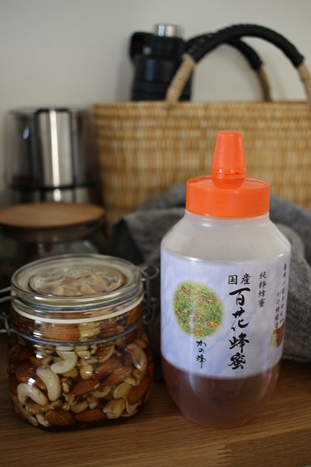ナッツの蜂蜜漬けを作る。_d0291758_21185069.jpg