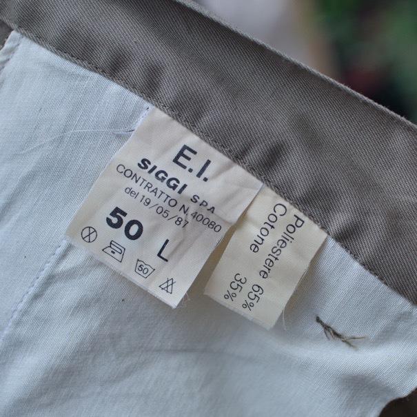 1980s Italian Military Chino Shorts _d0257333_19325548.jpg