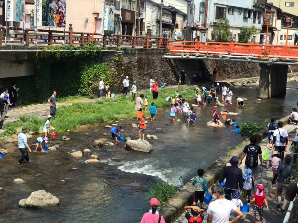 「春来川で遊ぼう」企画が湯村温泉でスタート_f0112434_17530399.jpg