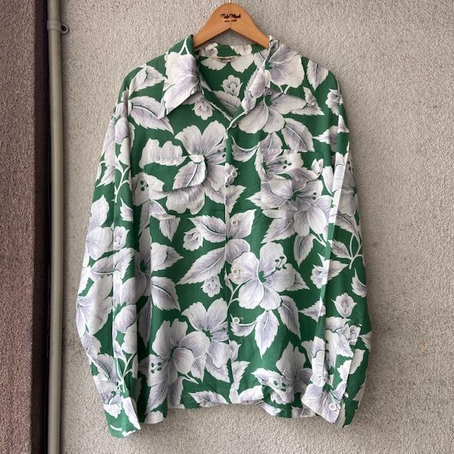 1950\'s L/S Rayon Hawaiian Shirt_c0146178_12103324.jpg