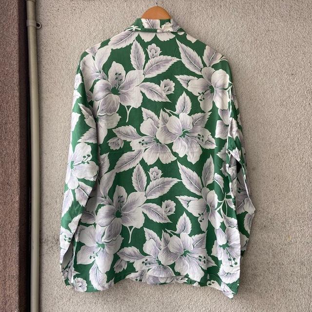 1950\'s L/S Rayon Hawaiian Shirt_c0146178_12104223.jpg