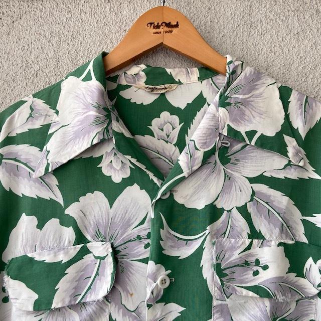 1950\'s L/S Rayon Hawaiian Shirt_c0146178_12105399.jpg