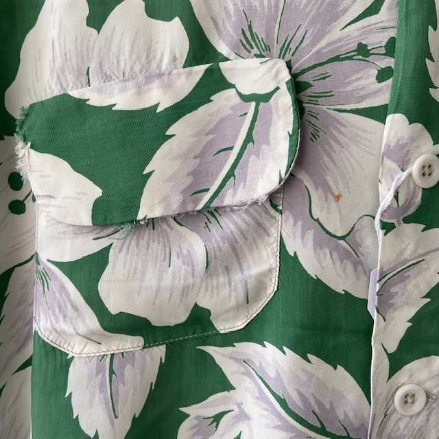 1950\'s L/S Rayon Hawaiian Shirt_c0146178_12120210.jpg