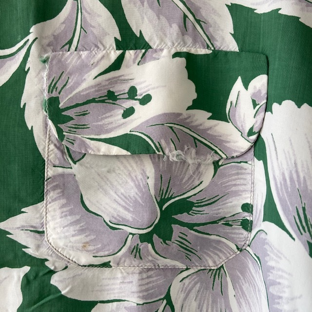 1950\'s L/S Rayon Hawaiian Shirt_c0146178_12121040.jpg