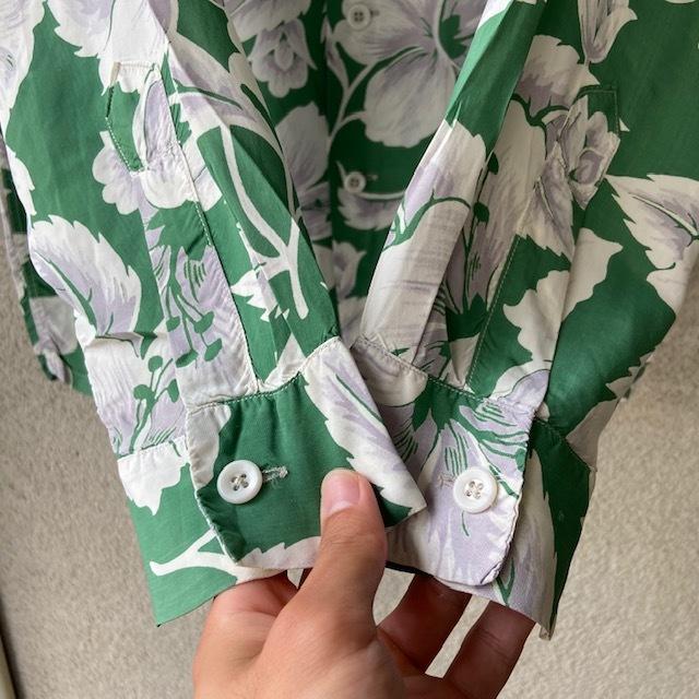 1950\'s L/S Rayon Hawaiian Shirt_c0146178_12130130.jpg