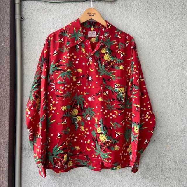 1950\'s L/S Rayon Hawaiian Shirt_c0146178_12135436.jpg