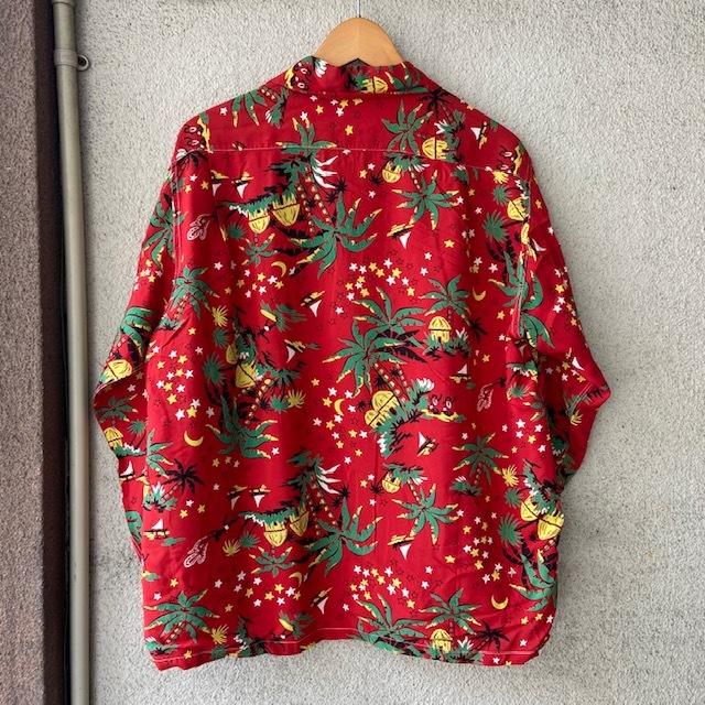1950\'s L/S Rayon Hawaiian Shirt_c0146178_12140329.jpg