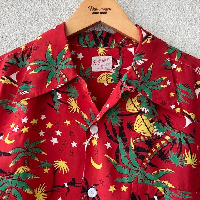 1950\'s L/S Rayon Hawaiian Shirt_c0146178_12141329.jpg