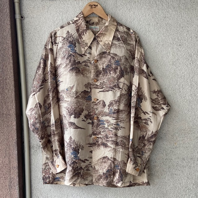 1950\'s L/S Rayon Hawaiian Shirt_c0146178_12212630.jpg