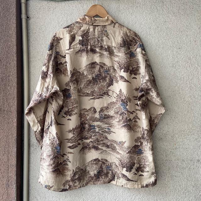1950\'s L/S Rayon Hawaiian Shirt_c0146178_12213543.jpg