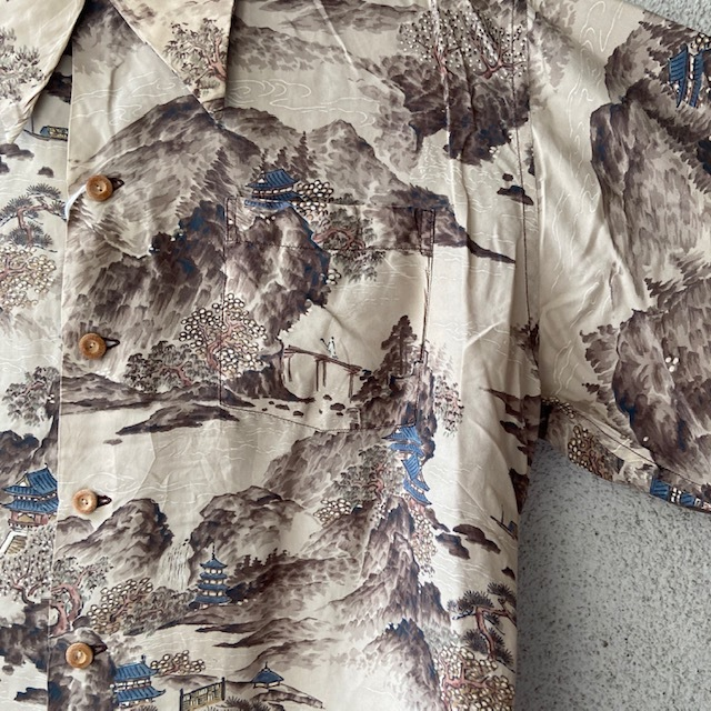 1950\'s L/S Rayon Hawaiian Shirt_c0146178_12222457.jpg