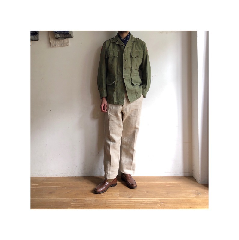 British Army Bush Jacket/ French Military Bourgeron Trousers_f0370108_13180876.jpg