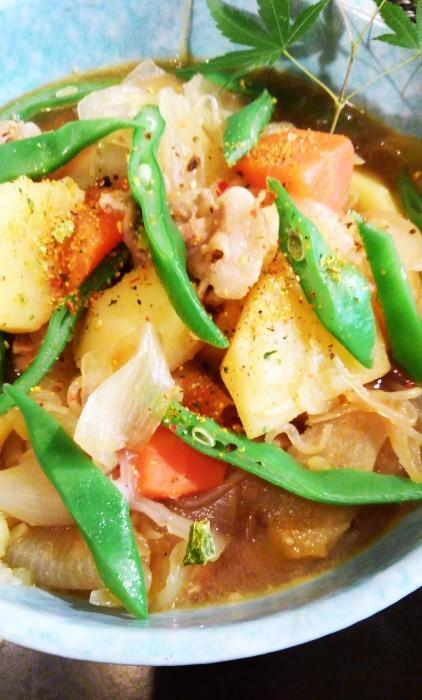 ■菜園野菜で【肉じゃがレシピ】_b0033423_23281157.jpg
