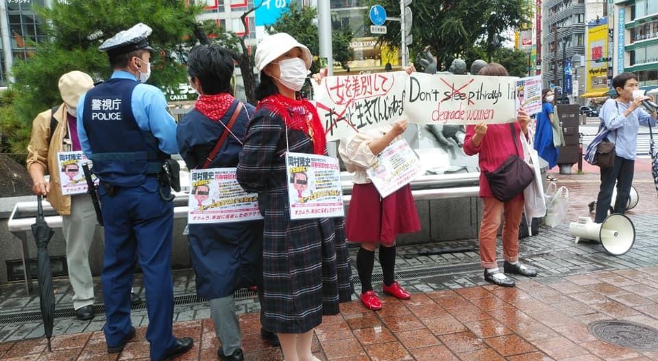 「チコちゃんに叱られる」岡村隆史MC続行に抗議(渋谷ハチ公前)_c0166264_18214838.jpg
