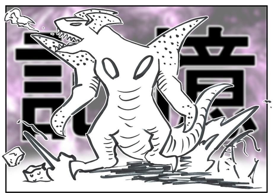 【ただの雑記】記憶だけでウルトラマンゼットや怪獣を描けるか③_f0205396_16484495.jpg