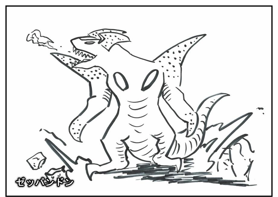 【ただの雑記】記憶だけでウルトラマンゼットや怪獣を描けるか③_f0205396_16544499.jpg