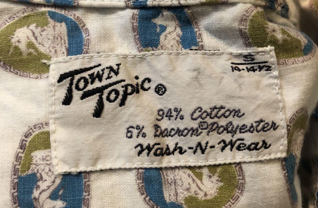 7月23日(木)入荷!50s TOWN TOPIC タウントピック  ボックスシルエット オープンカラーシャツ!_c0144020_16371121.jpg