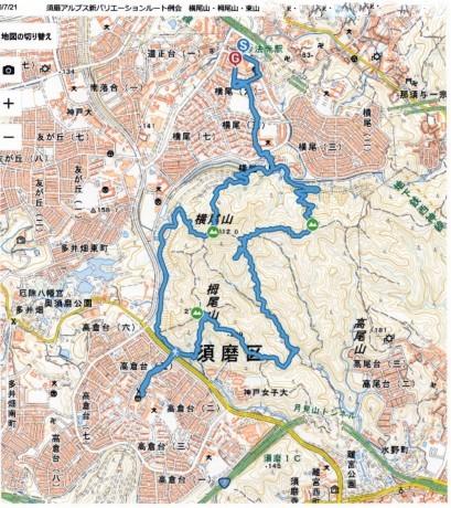 須磨アルプス新バリエーションルート 横尾山から天皇池を経て東山_c0218841_14481215.jpg