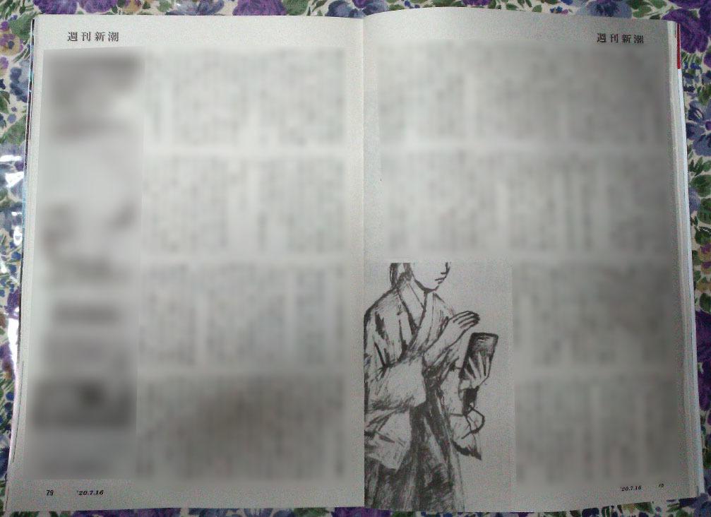 週刊新潮「雷神」挿絵 第27回〜28回_b0136144_10221797.jpg