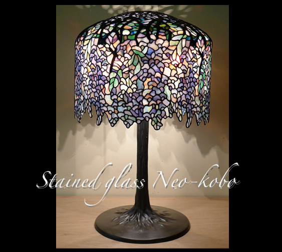 Tiffany lamp shade 18-inch Wisteria_e0140090_21575656.jpg