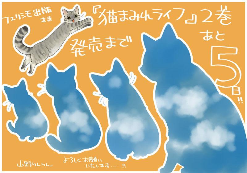 「猫まみれライフ」2巻発売!_d0118933_11092627.jpg