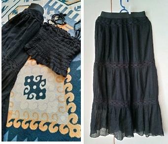 薄くて軽いコンビニサイズのエコバッグ/ティアードスカートにリメイク_c0036138_16372462.jpg