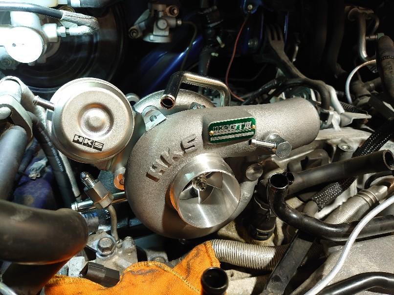 WRX HKS GT3RSターボ!..._a0252579_12462110.jpg