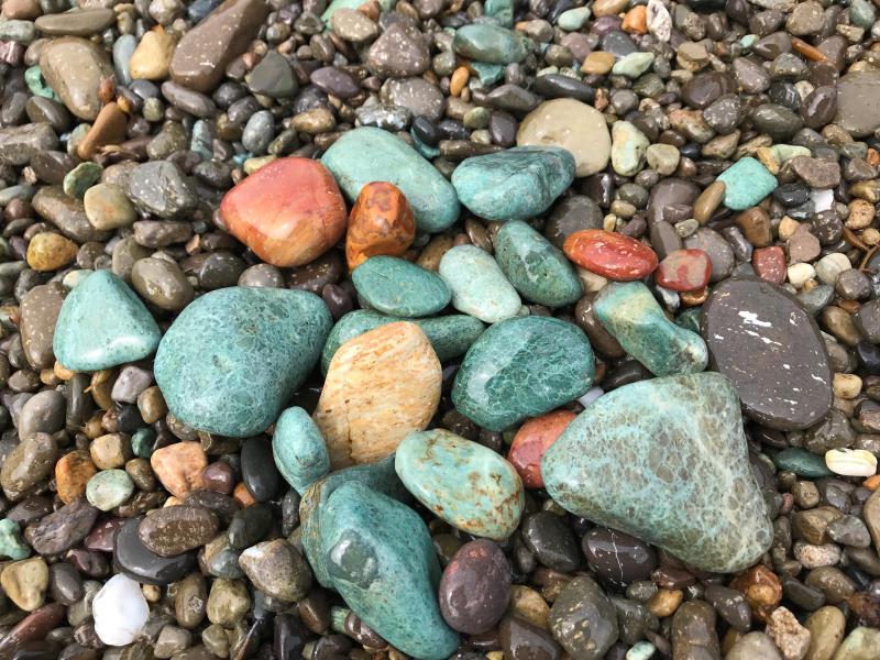 【海で拾った石】 十二石「海」_f0169147_16204591.jpg