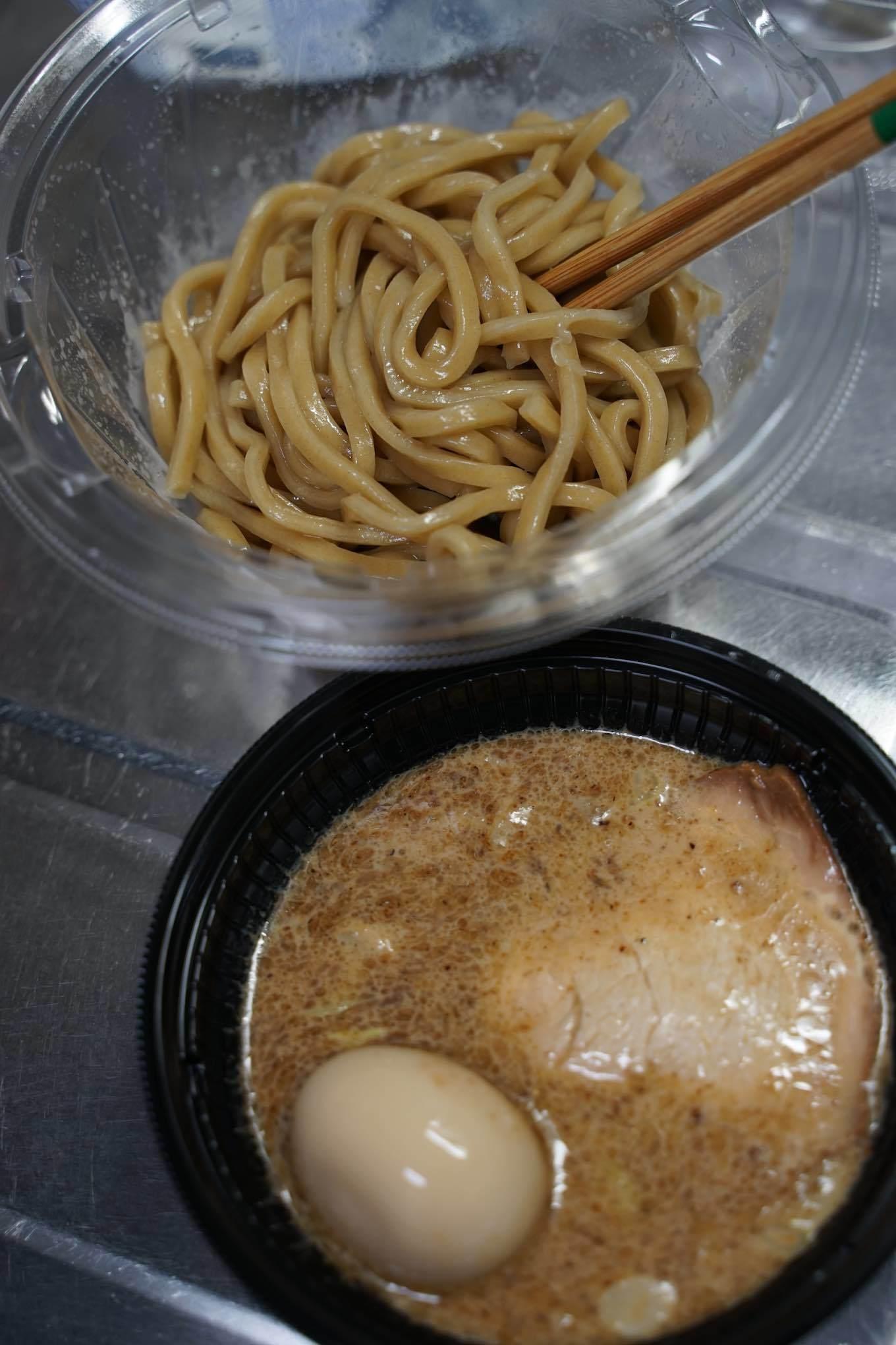 セブンイレブン とみ田監修濃厚豚骨魚介味玉冷しつけ麺_b0360240_13111148.jpg