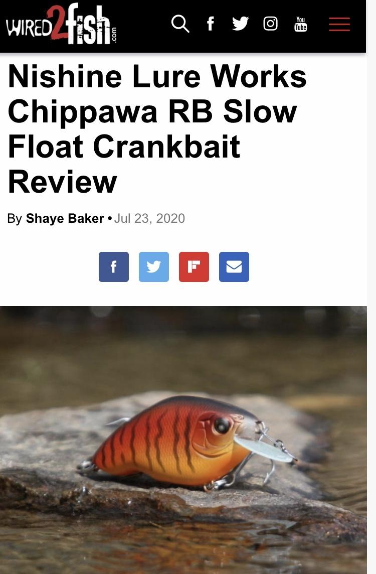 チッパワRBスローフロート、北米最大の釣りウェブサイトでレビューされる!_d0145899_23240343.jpeg