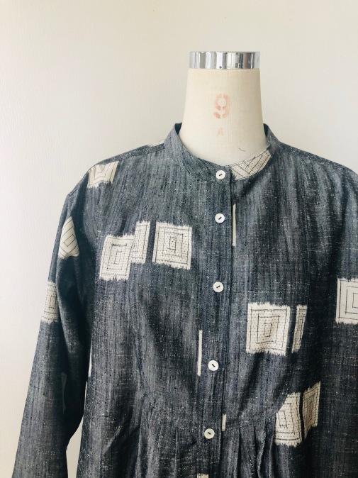 着物リメイク・紬の着物からピンタックワンピ_d0127925_11580749.jpg