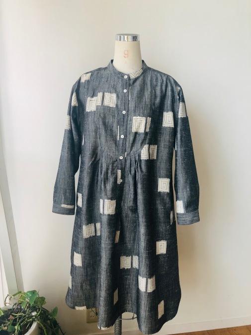 着物リメイク・紬の着物からピンタックワンピ_d0127925_11581255.jpg
