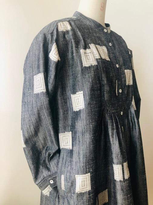 着物リメイク・紬の着物からピンタックワンピ_d0127925_11581744.jpg