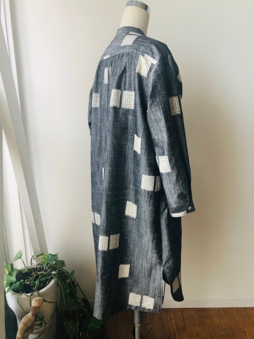 着物リメイク・紬の着物からピンタックワンピ_d0127925_11582121.jpg