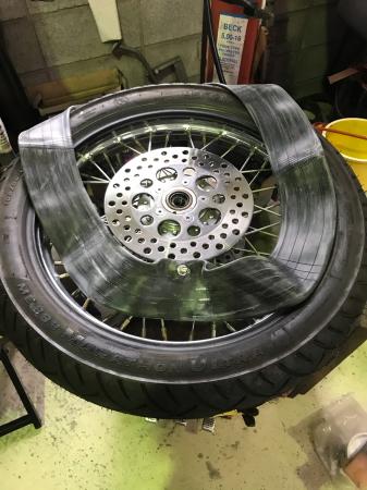 66アーリー Fタイヤパンク修理 7/25/2020_c0133351_18390996.jpg