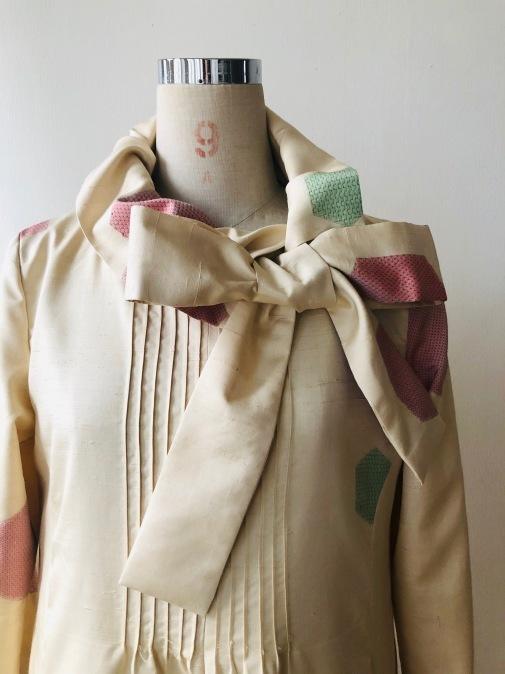 着物リメイク・紬の着物からピンタックワンピ2_d0127925_13092277.jpg