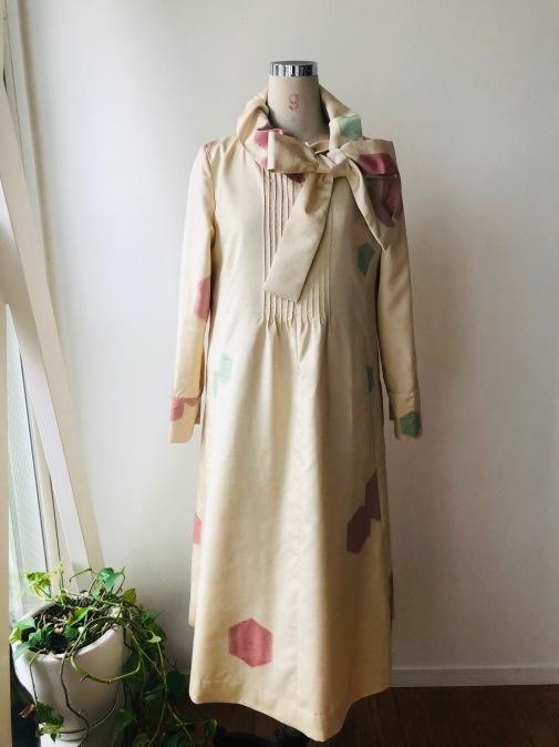 着物リメイク・紬の着物からピンタックワンピ2_d0127925_13092844.jpg