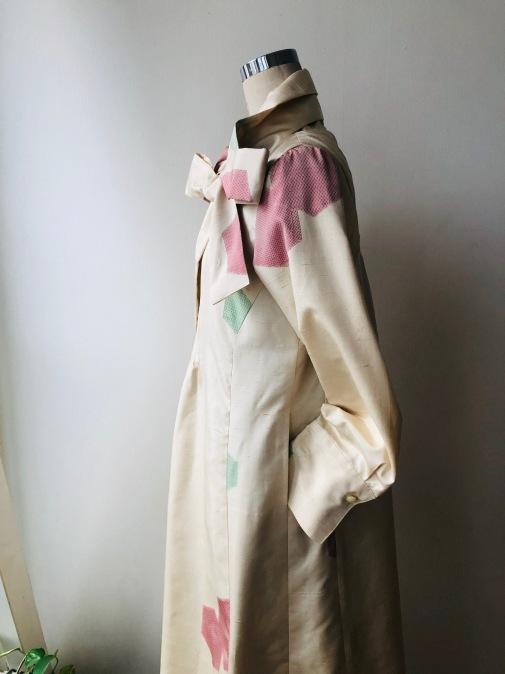 着物リメイク・紬の着物からピンタックワンピ2_d0127925_13093468.jpg
