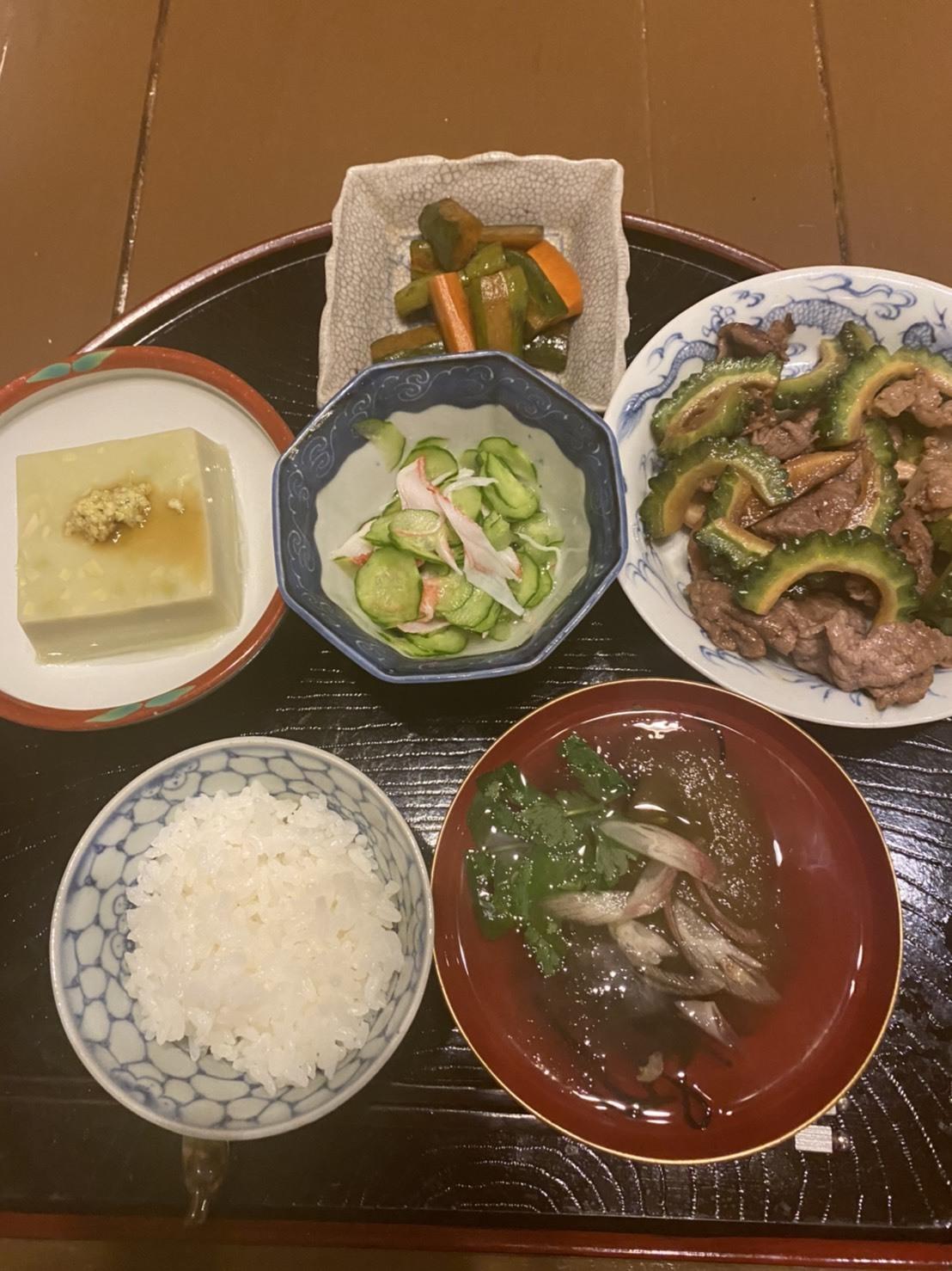 オクラ登場〜母の食卓_f0106597_00571201.jpg