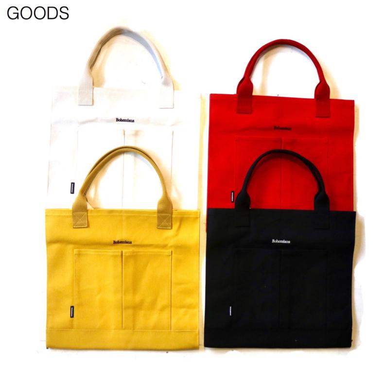 【BOHEMIANS GOODS】2POCKET CANVAS TOTE BAG_d0000298_17471104.jpg