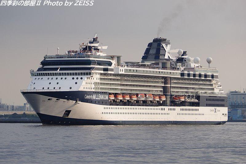 セレブリティミレニアムが入港した日、飛鳥Ⅱも入船接岸だった♪_d0358854_12455856.jpg