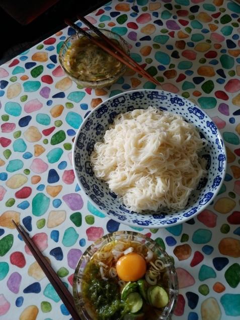 素麺とケーキ_c0162773_20433705.jpg