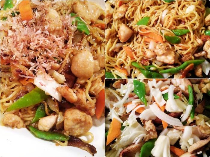 ■簡単5分【ガーリック鶏で野菜多めの焼きそば】_b0033423_21005177.jpg