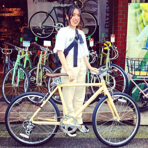 ☆本日のバイシクルガール☆ 自転車女子 自転車ガール ミニベロ クロスバイク ライトウェイ ターン riteway tern シェファード クラッチ ブルーノ おしゃれ自転車 マリン シェファード_b0212032_16271273.jpeg
