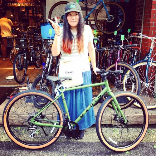 ☆本日のバイシクルガール☆ 自転車女子 自転車ガール ミニベロ クロスバイク ライトウェイ ターン riteway tern シェファード クラッチ ブルーノ おしゃれ自転車 マリン シェファード_b0212032_16331718.jpeg