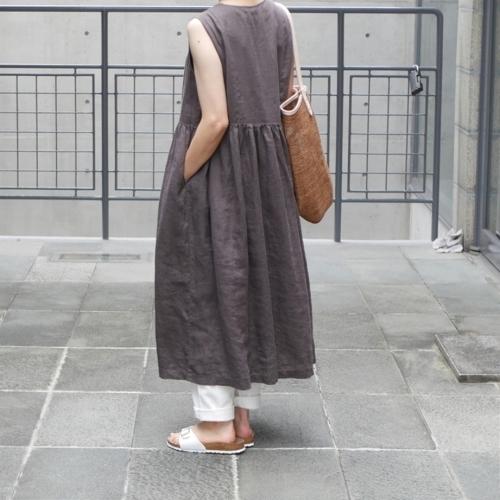 linen sleeveless dress !_e0247148_17443199.jpg