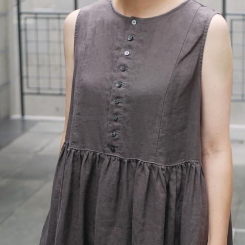 linen sleeveless dress !_e0247148_17443551.jpg