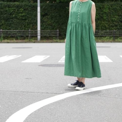 linen sleeveless dress !_e0247148_17444129.jpg