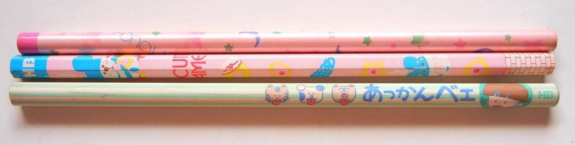 80年代の キャラクターシャープペンシル と 鉛筆_e0002769_15111653.jpg