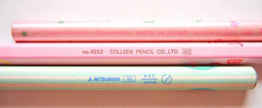 80年代の キャラクターシャープペンシル と 鉛筆_e0002769_15115265.jpg